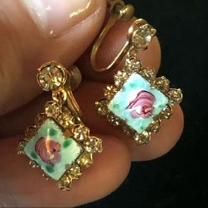Antique Guilloche earrings